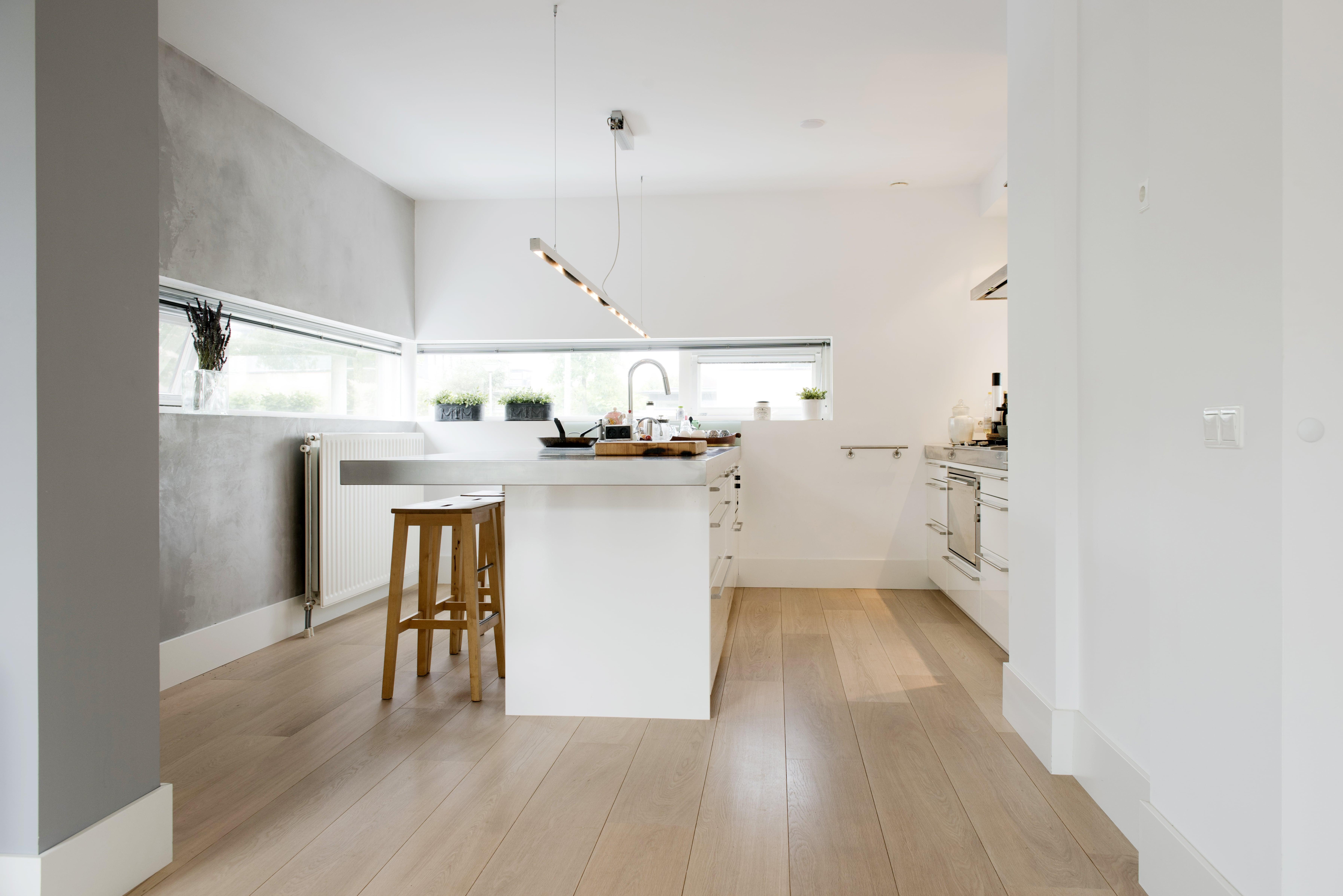 Parket vloer, houten vloer keuken