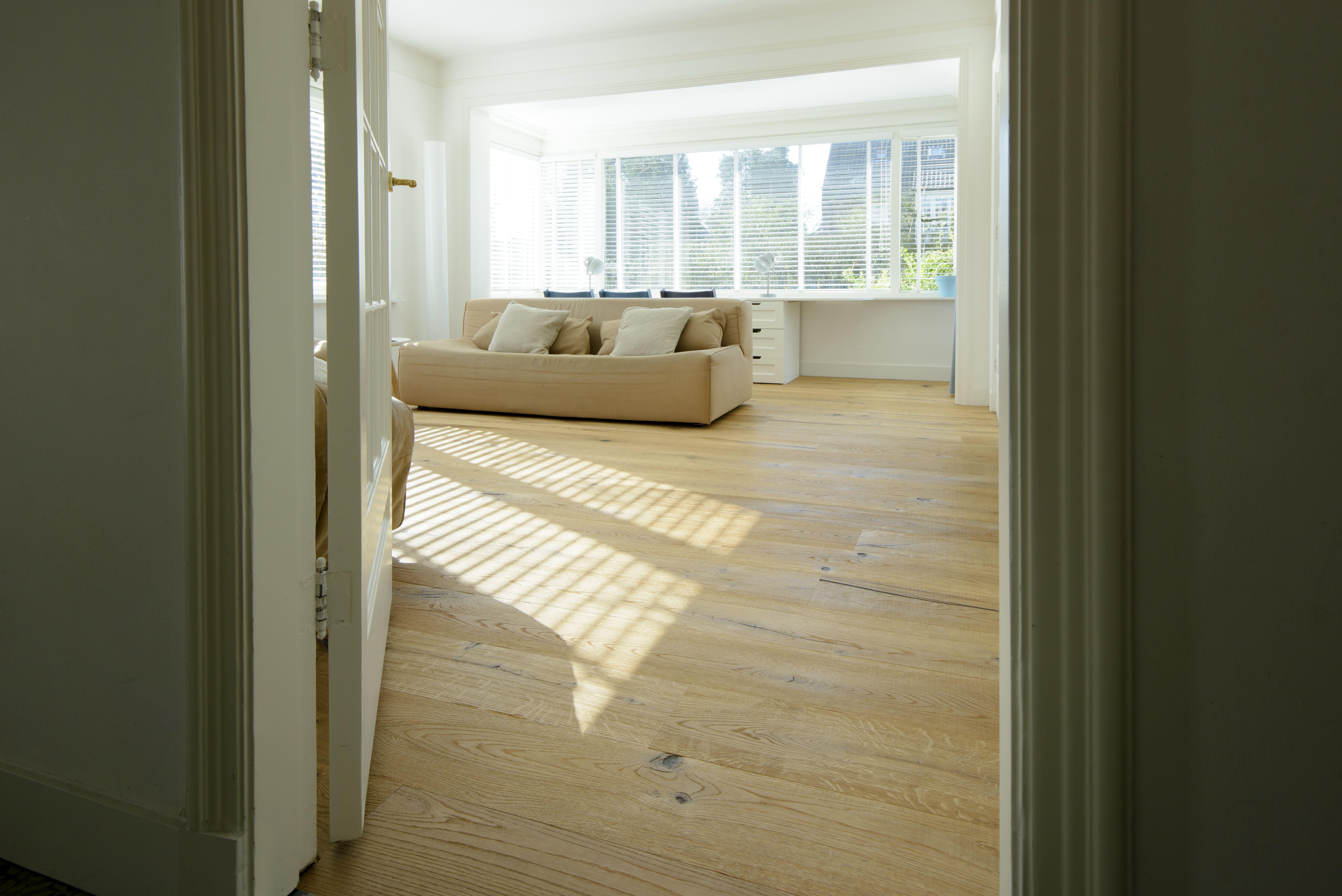 Massief houten vloer, parket met houtnerf