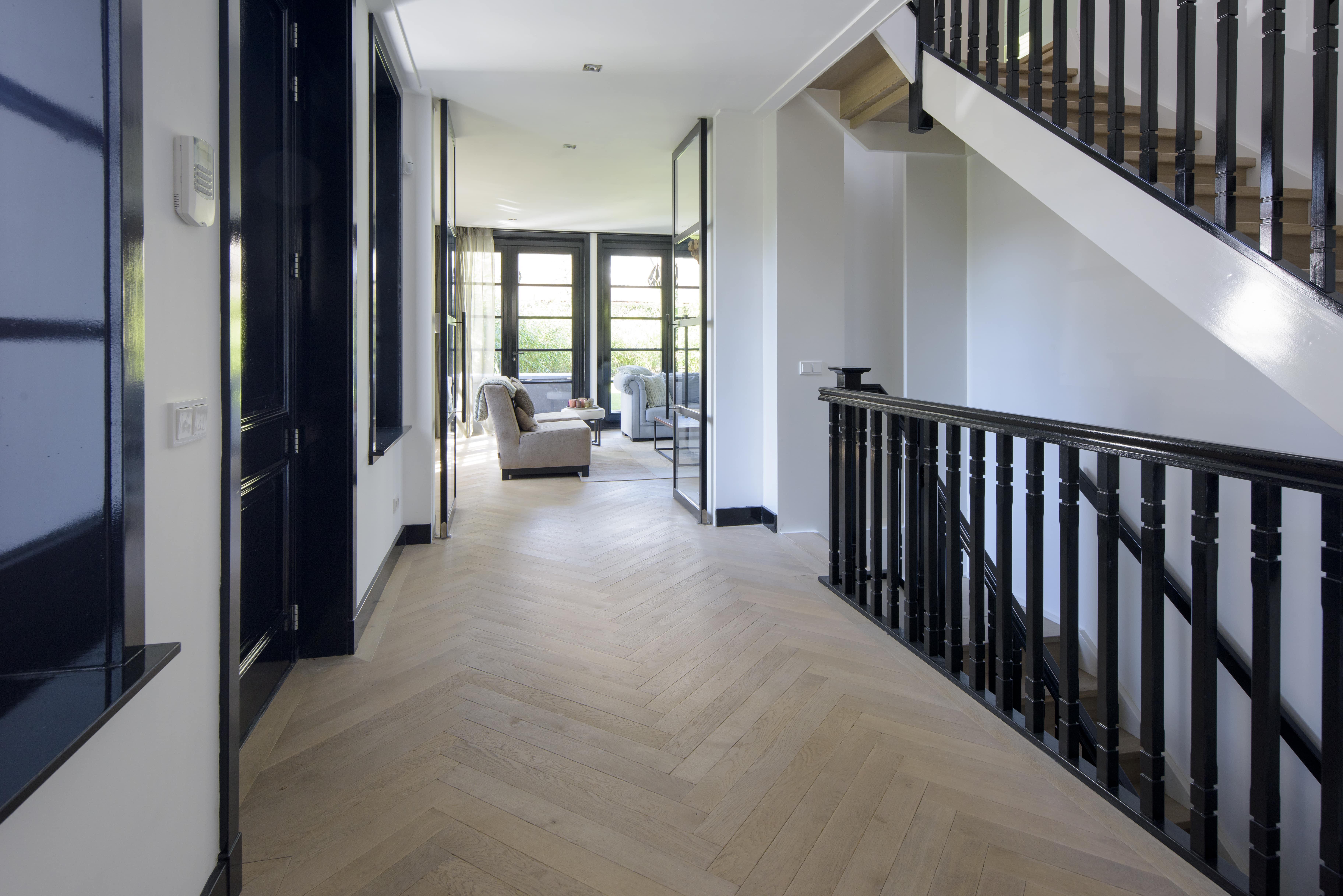 Visgraat parket vloer, houten vloeren